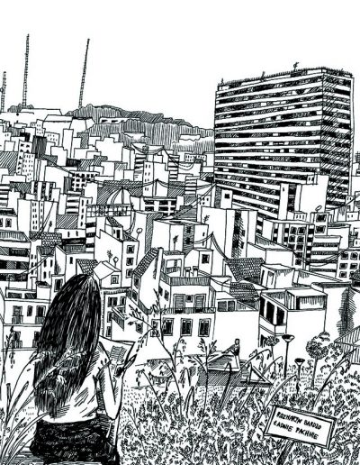 I made this drawing at about 7pm while sitting atop Alicantes mountain with the castle-It was full of rosemary and Spanish sun
